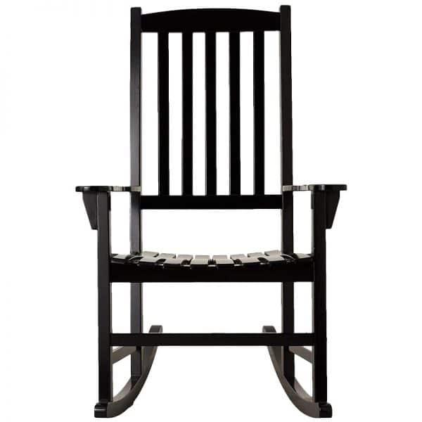 Ghế bập bênh gỗ sơn đen RC89A