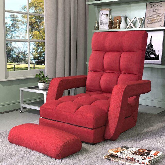 ghế lười đọc sách đỏ
