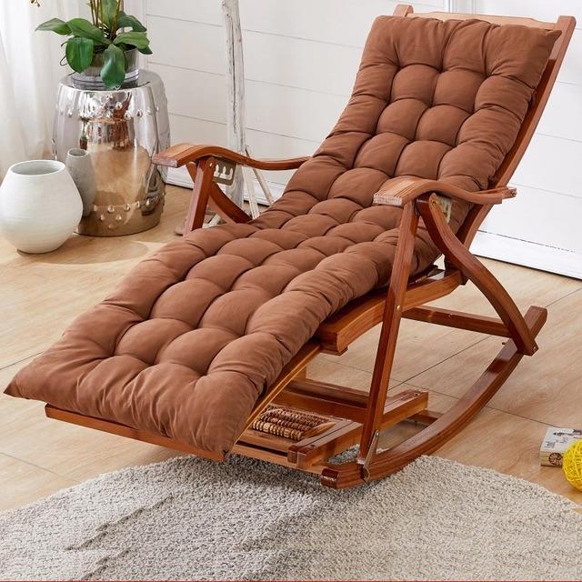 Ghế bập bênh bằng gỗ có chân gác