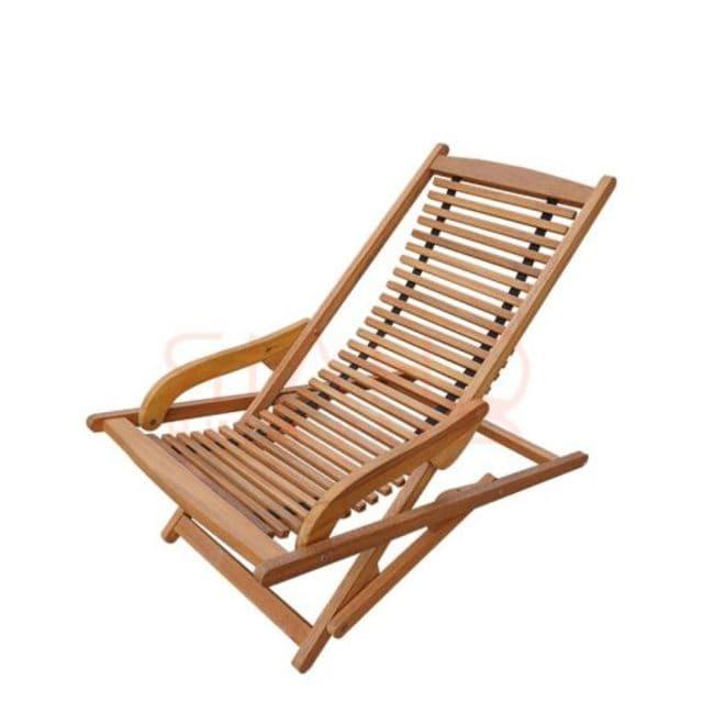 Ghế thư giãn nằm gỗ tự nhiên cho người lớn