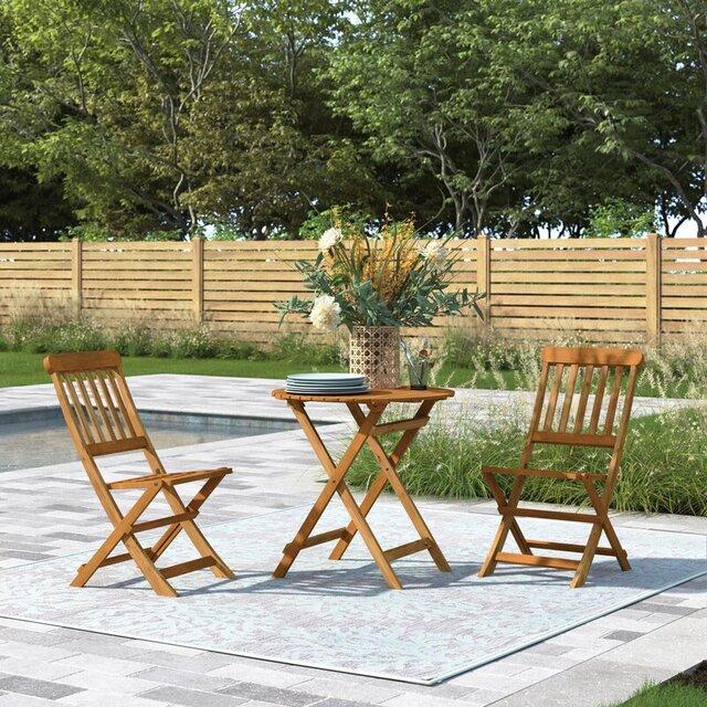 Bàn ghế gỗ ngoài trời đơn giản