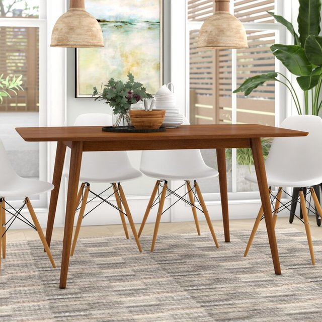 Bộ bàn ăn 6 ghế gỗ keo