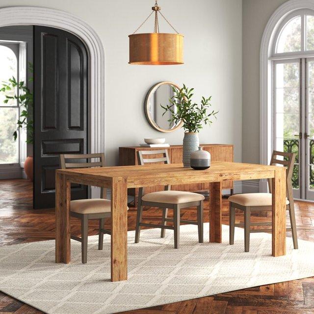 Bộ bàn ăn 6 ghế tối giản hiện đại