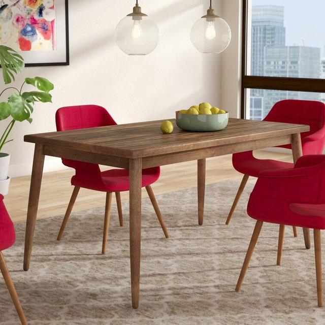Bộ bàn ăn 6 ghế phong cách mộc mạc