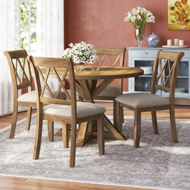 Bộ bàn ghế ăn gỗ cổ điển