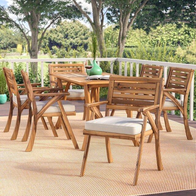 Bộ bàn ghế gỗ keo ngoài trời