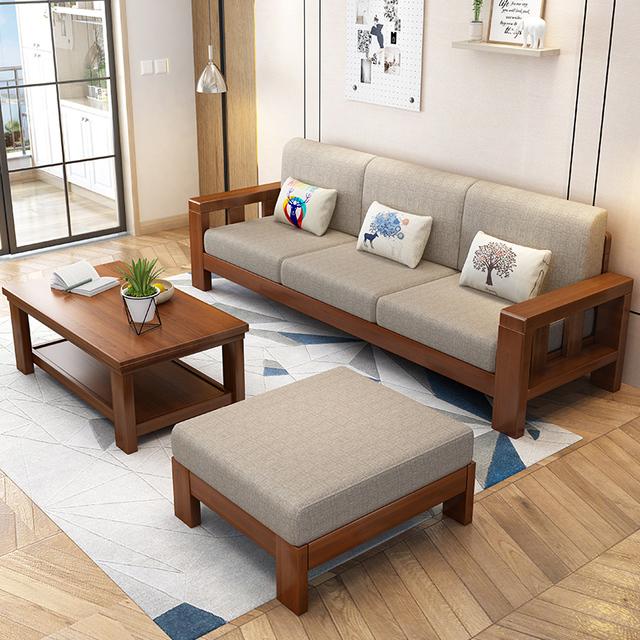 Bộ bàn ghế gỗ phòng khách chữ L