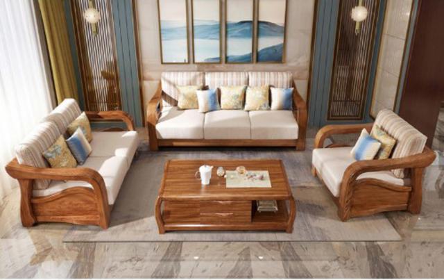 Bộ bàn ghế gỗ phòng khách chữ U