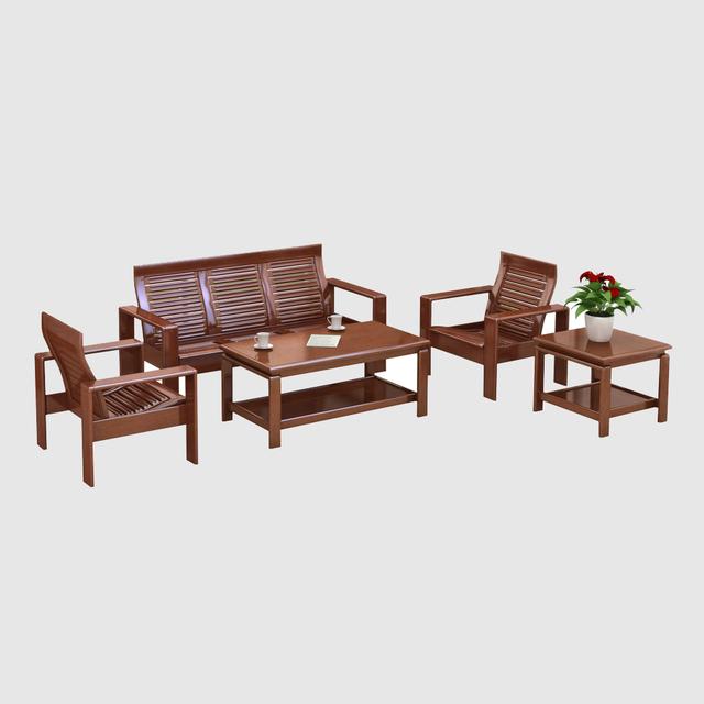 Bộ bàn ghế gỗ phòng khách nguyên tấm