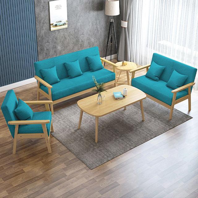 Bộ bàn ghế gỗ phòng khách thiết kế trẻ trung phong cách châu Âu