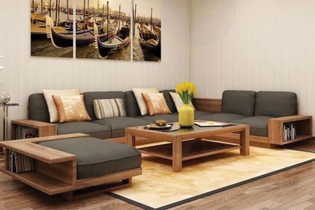 Bộ bàn ghế gỗ phòng khách đa năng