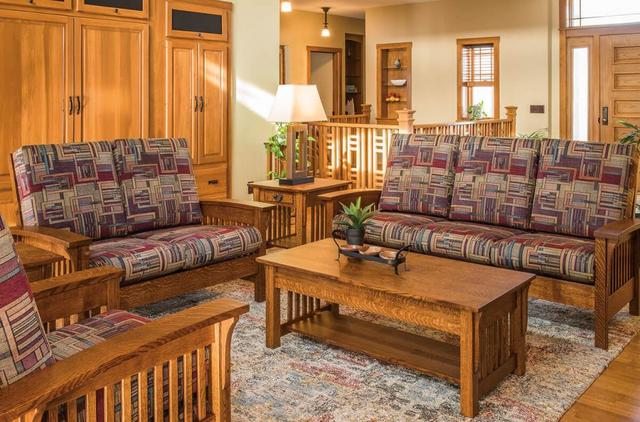 Bộ bàn ghế gỗ phòng khách đơn giản