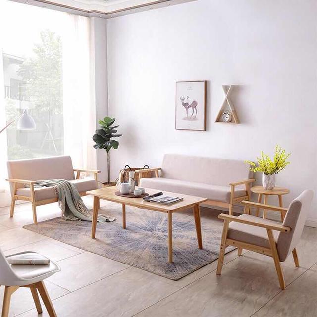 Bộ bàn ghế gỗ phòng khách dưới 10 triệu đơn giản, hiện đại