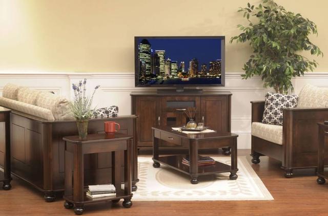 Bộ bàn ghế gỗ phòng khách tự nhiên tông màu trầm