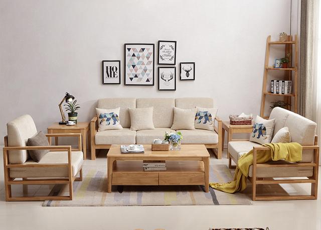 Bộ bàn ghế gỗ sofa phòng khách gỗ công nghiệp