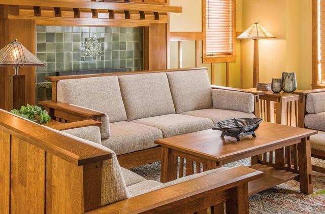 Bộ bàn ghế sofa phòng khách bằng gỗ