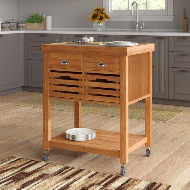 Đảo bếp nhỏ bằng gỗ độc đáo