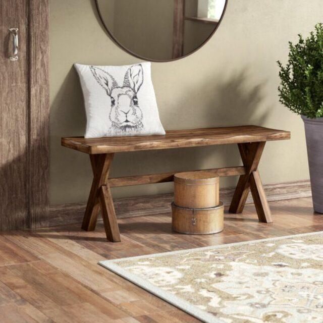 Ghế băng bằng gỗ WB59