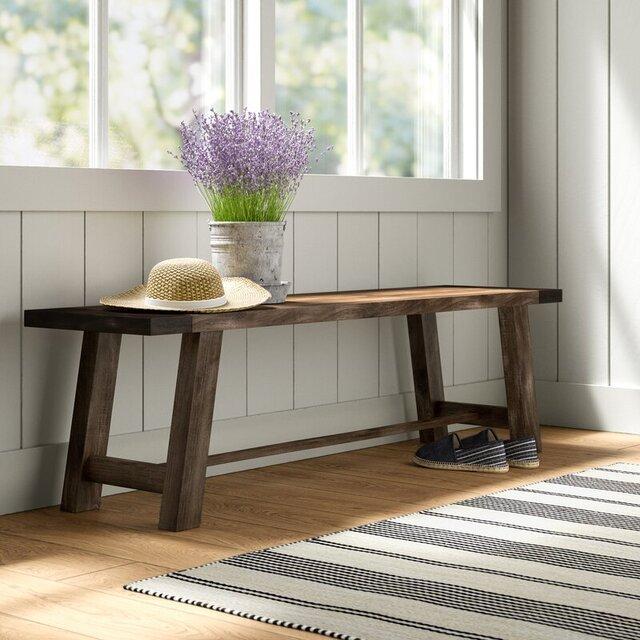 Ghế băng dài không tựa bằng gỗ
