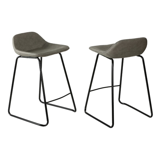 Ghế bar chân sắt với mặt ghế bọc nệm