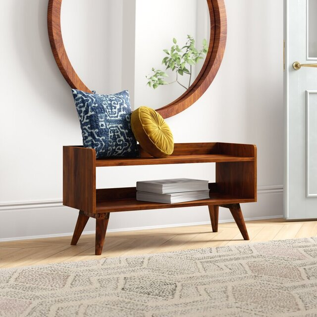 Ghế gỗ băng dài phòng khách tinh tế và độc đáo