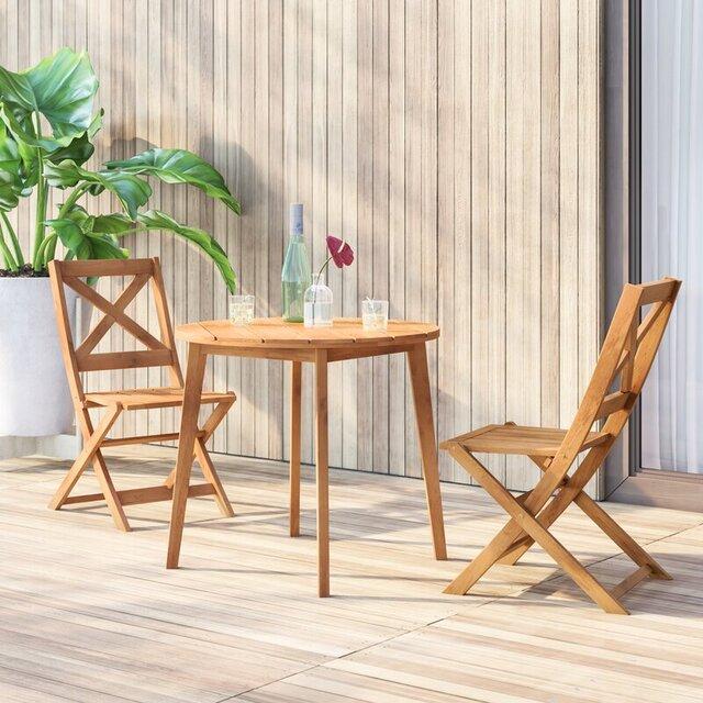 Bàn ghế cafe đẹp bằng gỗ, lưng chữ X