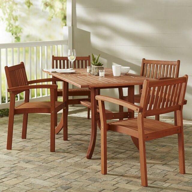 Bộ bàn ghế ban công gỗ keo lớn