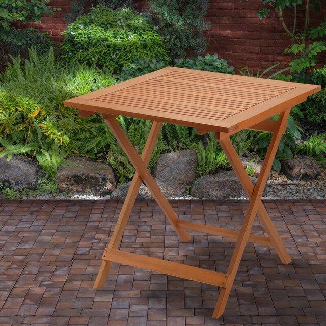 Bàn cafe bằng gỗ gấp gọn