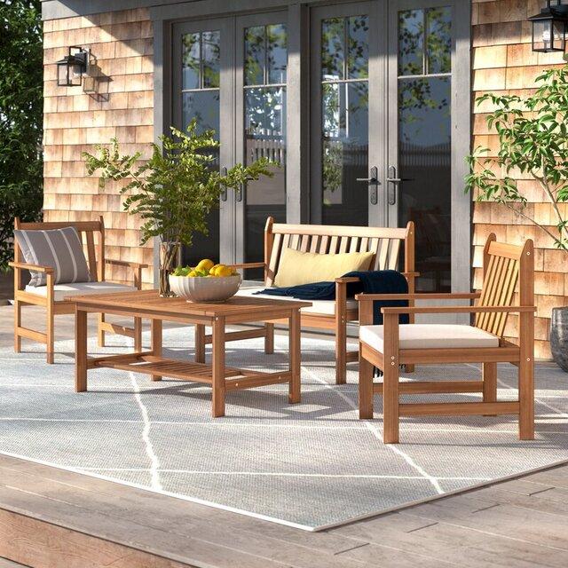 Bộ bàn ghế sân vườn 4 món